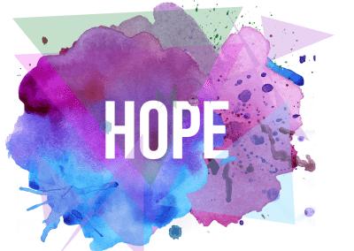 Church Sermon Series Artwork for Easter Hope