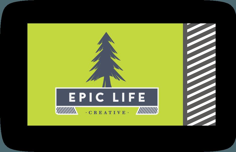Epic life creative logo graphic design nashville