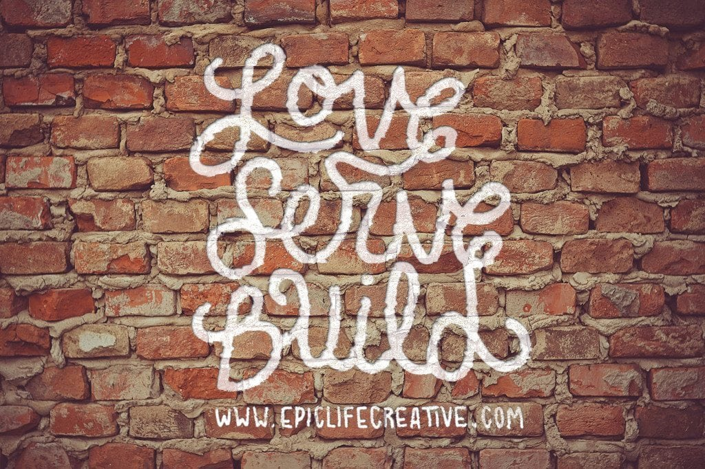 love_serve_wall