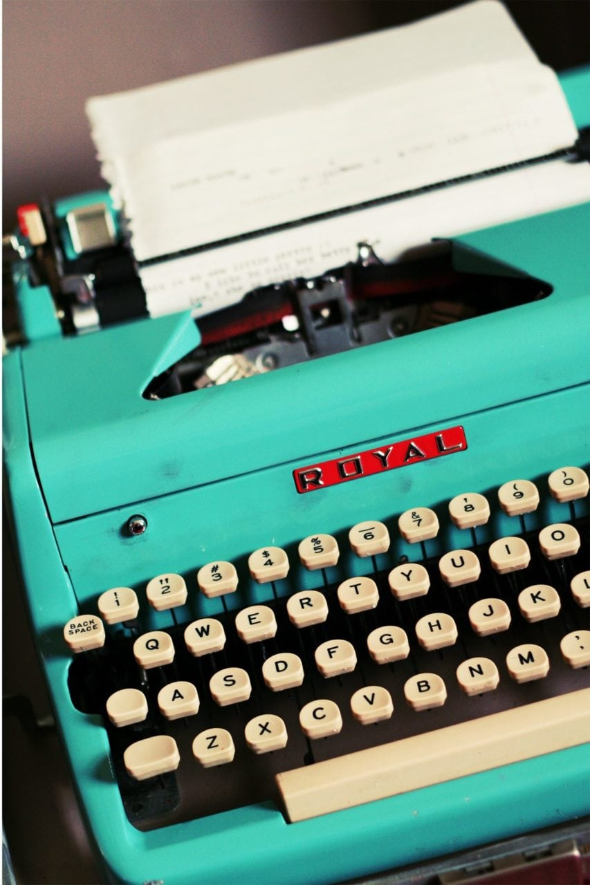 Typewriter - Light Blue Royal